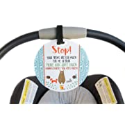 Baby Safety No Touching Newborn, Baby car seat tag, Baby Shower Gift, Stroller tag, Baby Preemie no Touching car seat Sign