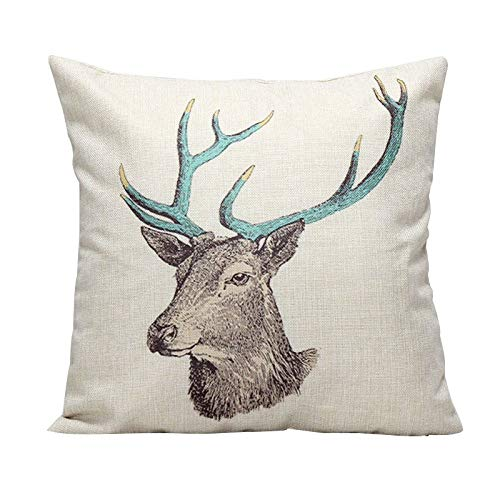 - Cushion Cover - 1pc Pillow Cover Simple Deer Grove Pattern Throw Pillowcase Covers Sofa Chair Decoration Clearance - Floral Make Loveseat Zebra Peach Dog Chair Stripes Maritime Rose