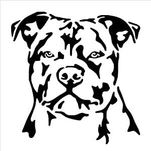 Amazon.com: STAFFORDSHIRE BULL TERRIER DOG Rubber Stamps