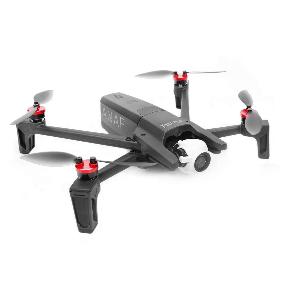 Rouge Flycoo 4 pcs Bouchon de Moteur pour Parrot Anafi Drone Protection Accessoire Anti-poussi/ère Antichoc Imperm/éable CNC Alliage Aluminium