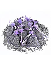 12 Small Purple Sachets Craft Bag with Dried French Lavender Flower Buds - Lavender Sachets for Wedding Toss, Home Fragrance Sachets for Drawers and Dressers