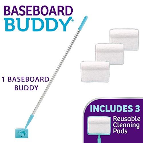 Baseboard Buddy - Baseboard & Molding Cleaning Tool! Includes 1 Baseboard Buddy and 3 Reusable Cleaning Pads, As Seen on TV