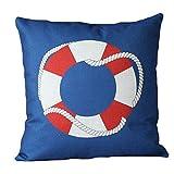 "17"" Stylish Comfortable Throw Pillow Soft Pillow Sofa Cushion, Life buoy"