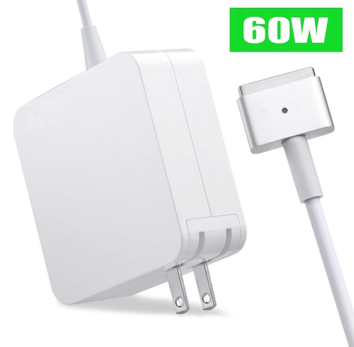 60W Charger Compatible for MacBook Air & MacBook Pro Charger Replacement Magsafe 2 Power Adapter for Mac Pro 13-inch(After Late 2012) by SmartDelux