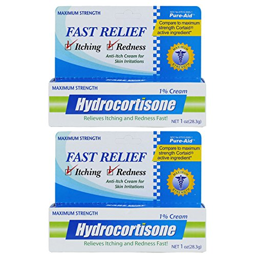 Cream 1% Cortaid (Pure-Aid Hydrocortisone Cream 1% - 1 oz (2 packs))