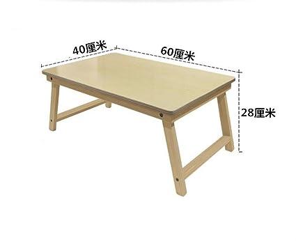 Bois massif pliable table pour ordinateur portable bureau de lit