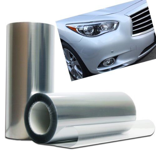 Optix New Clear Bra Headlight Bumper Hood Paint Protection Guard Film Vinyl Sheet Roll - 12