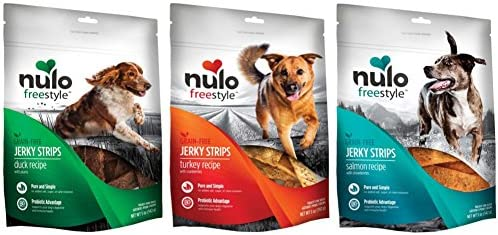 Nulo Freestyle Grain Free Dog Jerky Treat Variety Pack 3 Pack