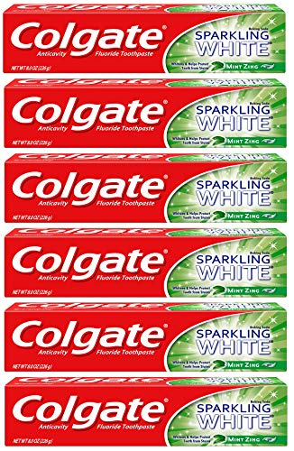 (Colgate Sparkling White Whitening Toothpaste, Mint - 8 ounce (6 Pack))