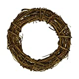 rescozy (Pack of 6) Natural DIY Grapevine Wreath Christmas Garlands 12-Inch