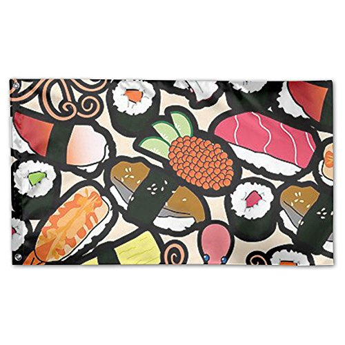 Oyhra Initial Sushi Food Family Party Home Yard Garden Flags