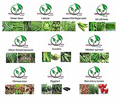 Golden autumn farm - Sunshine Gift Box?Organic vegetable seeds?set -10 / ORGANIC NON-GMO Easy-to-Grow vegetable Seeds