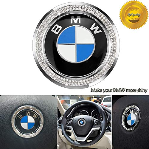 Car Steering Wheel Center Metal Crystal Diamond Decorative for BMW New 3 Series 320 GT5 Series X1 X 3 X4 X 5 X6 E46 E30 E34 E36 E39 E53 E60 E90