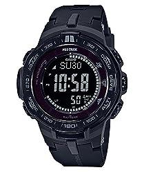 Casio Men's 'PRO TREK' Quartz Resin Casual Watch, Color:Black (Model: PRW-3100Y-1BCR)