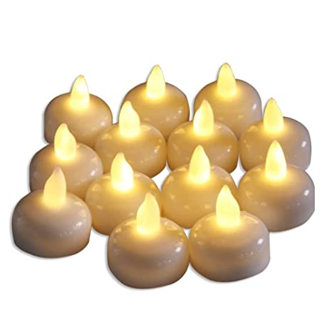set of 24 flameless floating candles battery operated tea lights candle decorative wedding
