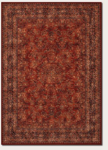 Couristan 1726/3200 Old World Classics Antique Kashan Area Rugs, 9-Feet 10-Inch by 13-Feet 9-Inch, (Burgundy Kashan Rug)