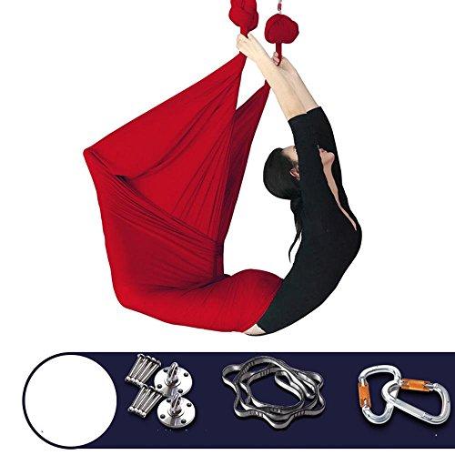 Tissu micro-élastique d'hamac d'oscillation de yoga aérien anti-gravité avec des accessoires pour la maison, 500 * 280cm