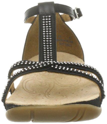 femmes Rona Leather Clarks Sparkle Black Noir Sandales t071x7
