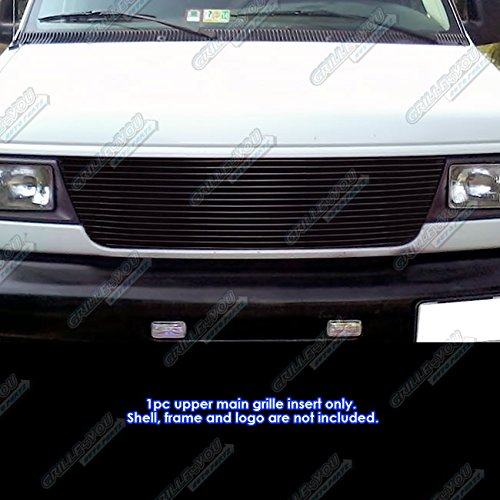 APS Compatible with 1992-2007 Ford Econoline Van 15 Bars Black Billet Grille Insert S18-H02058F