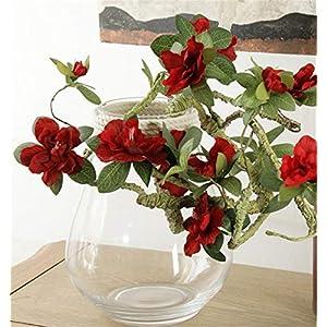 Skyseen 2PCS Artificial Azalea Flowers for Floral Arrangement 40