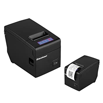 Excelvan USB 58mm Thermal Dot Receipt Printer suitalble for 83mm diameter  roll support Andriod/IOS/Windows/Linux device (Black)