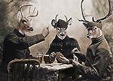 Deer Art Print -''The Poker Game''