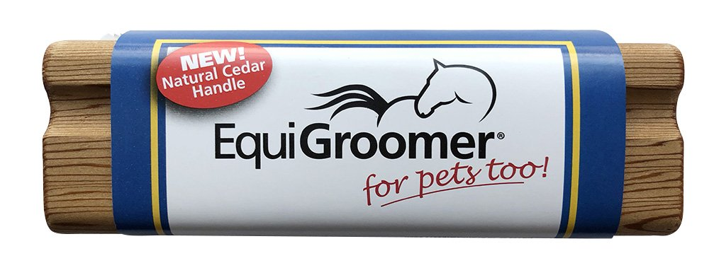 EquiGroomer Small 5'' Grooming/Shedding/Tool for Horses, Dogs, Cats and other Pets (Natural Cedar)