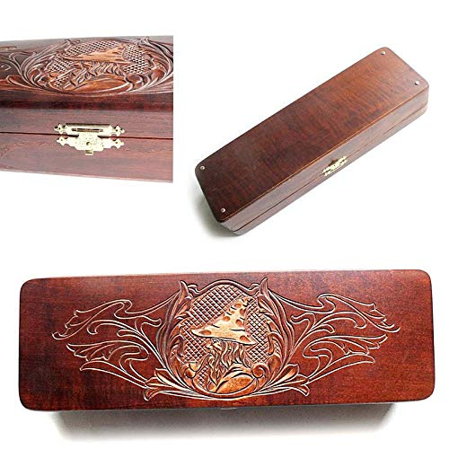 Carved Gift Box for Tobacco Smoking Pipes Exclusive Designed For pipe Smokers New Pipe BIG Wooden Tolkien Box The Lord Of The RingsTREE OF GONDOR Leather Decorated