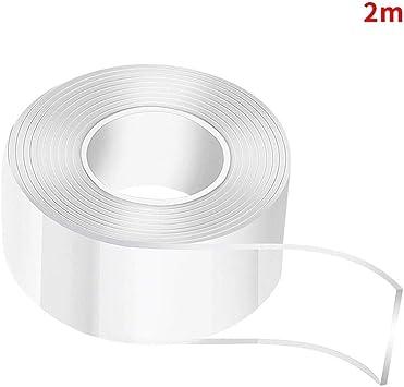 resistente y antideslizante cinta adhesiva de gel lavable de doble cara para alfombras no deja rastro transparente Cinta adhesiva reutilizable nanoadhesiva fotos y p/ósteres multiusos