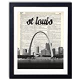 St. Louis Skyline With Name Vertical Dictionary Art Print 8x10