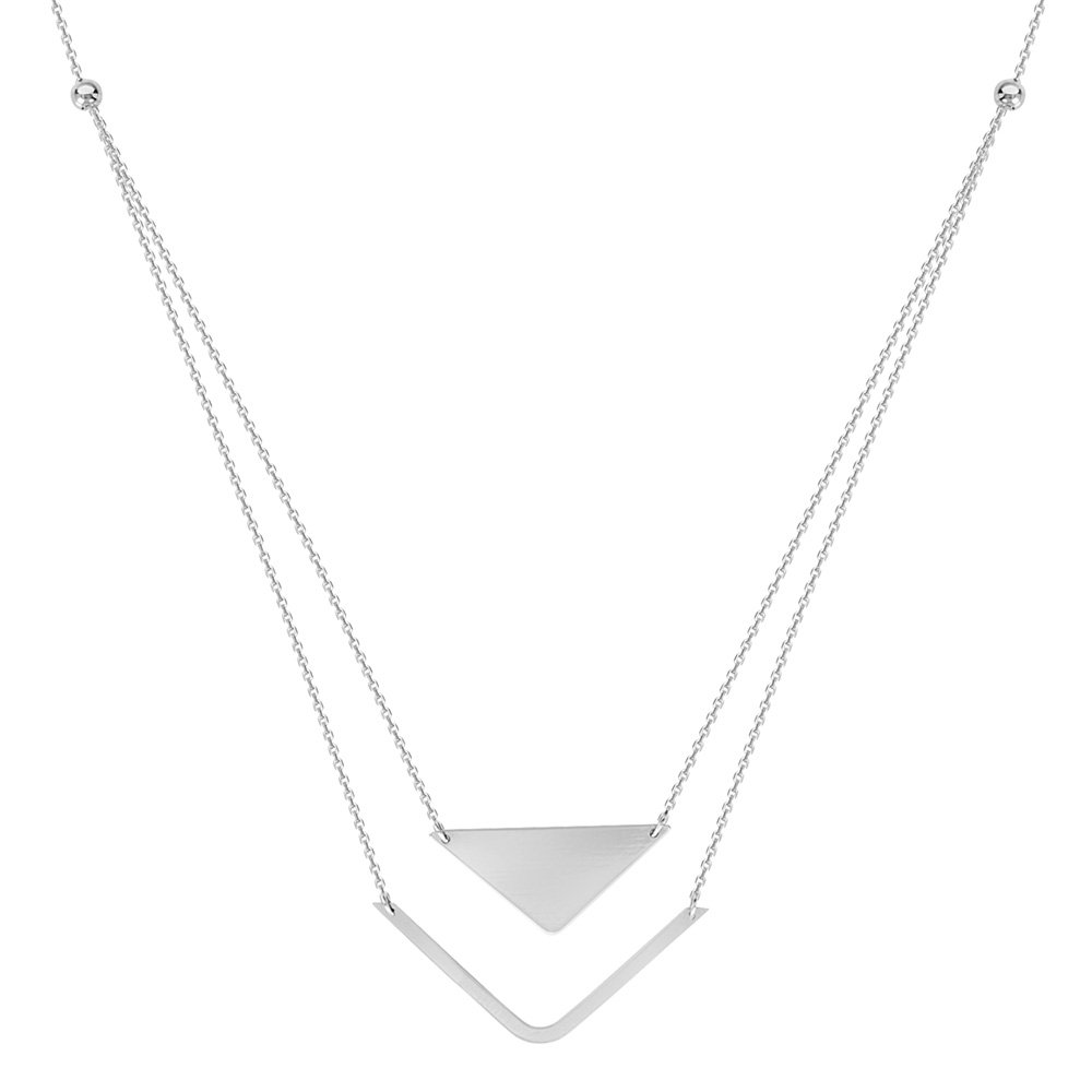 Sterling Silver Duo Stability and Balance Adjustable Necklace
