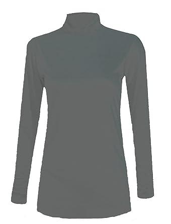 WearAll - Jersey para Mujer, Cuello de Tortuga, Manga Larga ...
