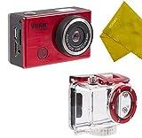 Vivitar WiFi 12.1MP Action Camera DVR-794HD Waterproof Underwater Housing- RED