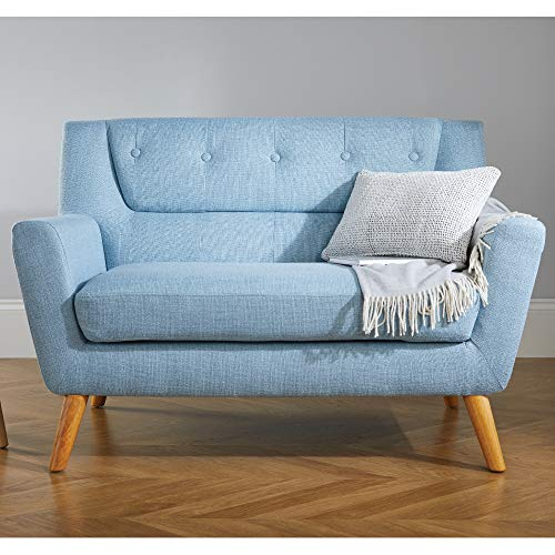 Duck Egg Blue Leather Sofa: Happy Beds Lambeth 2 Seater Duck Egg Blue Fabric Sofa