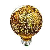 Kercan G95 3D Glass Vintage Retro Edison Globe Bulb E27 3W Led Light Lighting