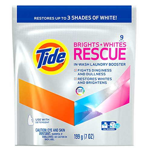 Tide Brights Plus Whites Rescue in-Wash Laundry Booster Packs, 9 count - La Paz Pod