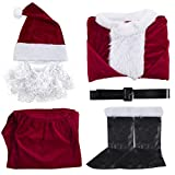KAIYANG Complete Santa Claus Costume Christmas Suit, Unisex