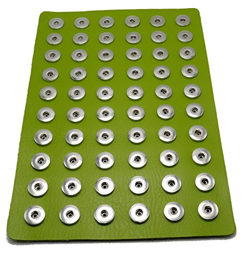 Ladieshow Snap Jewelry Button Display PU Board Organizer for Ginger Button Sized 12mm 18mm 20mm