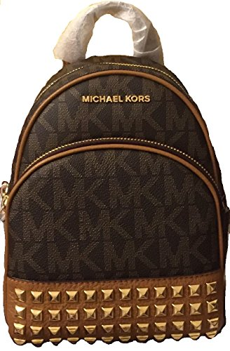 Michael Michael Kors Abbey Extra-Small Signature Studded Backpack Brown/Acorn by Michael Kors