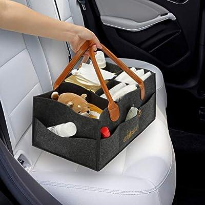 Portable Baby Diaper Caddy Organizer - Nursery Storage Bin - Car