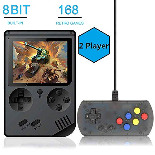BAORUITENG Handheld Game Console, Retro FC Game Console,Entertainment System Video Game Console with 3 Inch 168 Classic…
