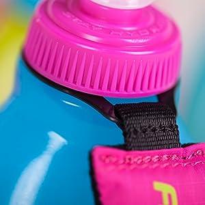 FuelBelt Helium Sprint Ergonomic Bottle, Arctic Blue/Grape, 10-Ounce