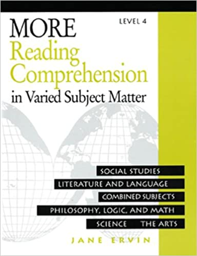 Workbook free high school reading comprehension worksheets : More Reading Comprehension: In Varied Subject Matter, Level 4 ...