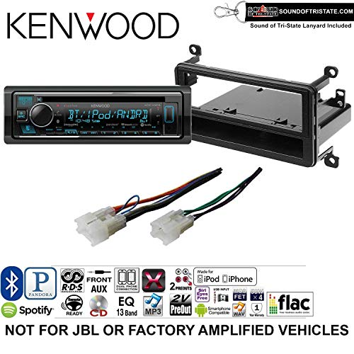 (Kenwood KDCX303 Double Din Radio Install Kit with Bluetooth, CD Player, USB/AUX Fits 2001-2005 Toyota RAV4 and a SOTS Lanyard)