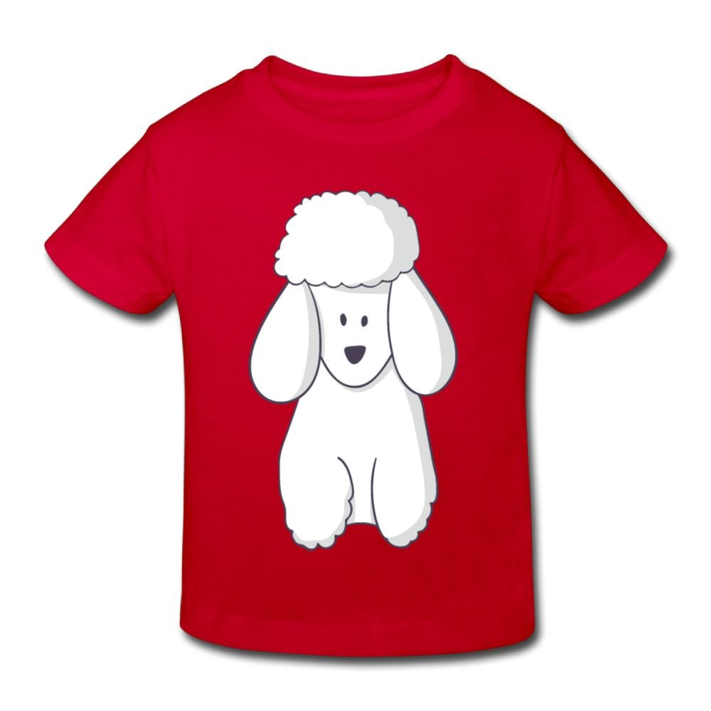 Happy Poodles Classic Girl Summer Crew Tshirts Short Sleeve for 2-6 Years