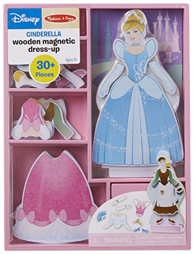 Melissa & Doug Disney Cinderella Magnetic Dress-Up Wooden Doll Pretend Play Set (Compact Storage Case, 30+ Magnets, Great Gift for Girls and Boys - Best for 3, 4, 5, and 6 Year Olds)