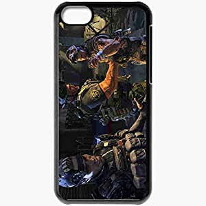 Personalized iPhone 5C Cell phone Case/Cover Skin Army Of Two Black