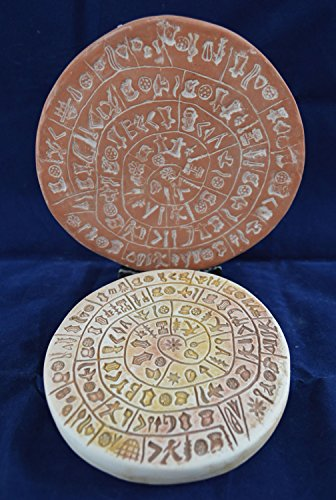 - Phaistos Disk of Minoan Crete marble based plus phaistos disc free standing set
