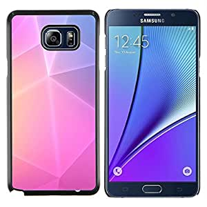 Dragon Case - FOR Samsung Note 5 N9200 N920 - polygon art purple pink yellow lines - Caja protectora de pl??stico duro de la cubierta Dise?¡Ào Slim Fit