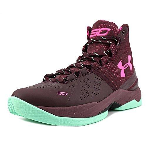 Price comparison product image Under Armour Curry Hi Bhm Sneaker color Maroon/Antifreeze size 6 M US Big Kid